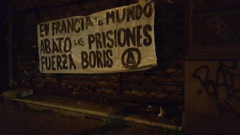 """""""In France and the world, down with prisons. Strength, Boris."""""""