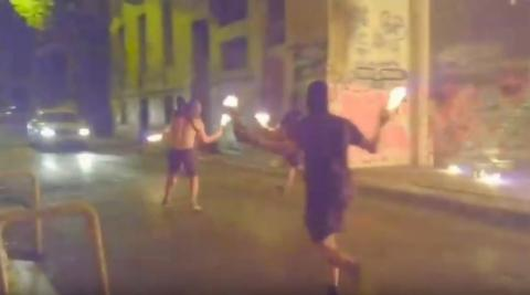 During the night of 1 September 2019, at about 23:40, anarchists attacked the greek riot police checkpoint into the area of Exarcheia, at the corner of Tositsa and Trikoupi street.