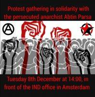 Open call for the protest gathering in solidarity with the persecuted anarchist Abtin Parsa