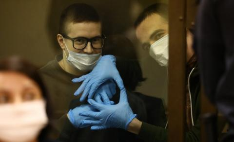 Viktor Filinkov and Yuli Boyarshinov in court