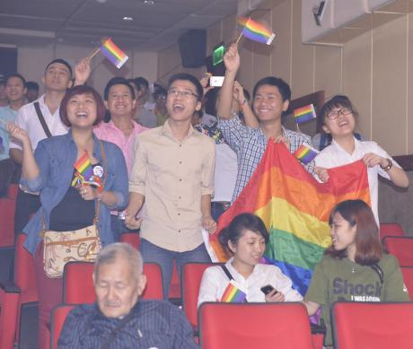 Celebration at the iSee LGBT event