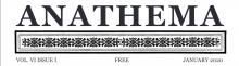 Anathema Volume 6, Issue 1 - January 2020