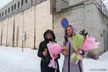 Anastasia Pchelintseva and Anna Shalunkina after their weddings to Dmitry Pchelintsev and Maxim Ivankin. Photo courtesy of 7×7 and Novaya Gazeta