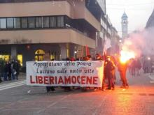 An unexpected noisy demo in Saronno